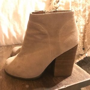 Jeffrey Campbell beige booties size 6